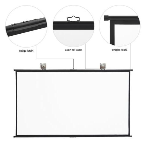 100 inch16:9 Gain Manual Projection Projector Auto