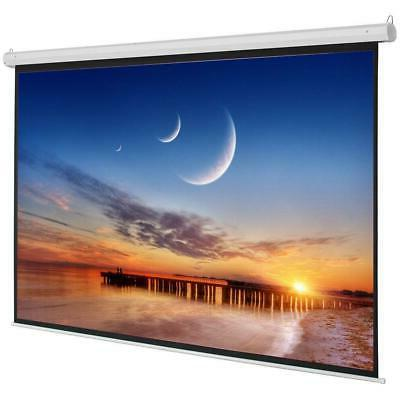 """HD 92"""" 16:9 x Motorized Projector Screen Projection with White"""