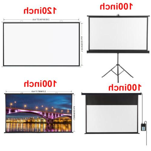 hd electric motorized projector screen portable projector