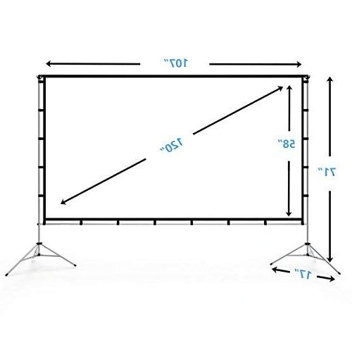 Vamvo Outdoor Screen Stand Portable 120 Inch Full-Set Home Theater Recreational