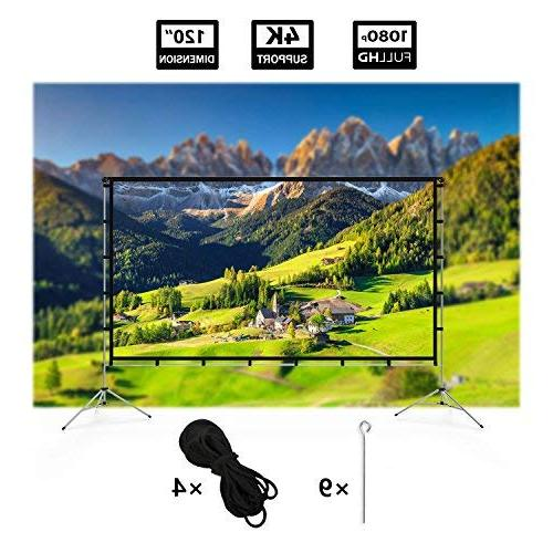 Vamvo Outdoor Portable Movie Screen 120 Inch Full-Set Home and Recreational Events