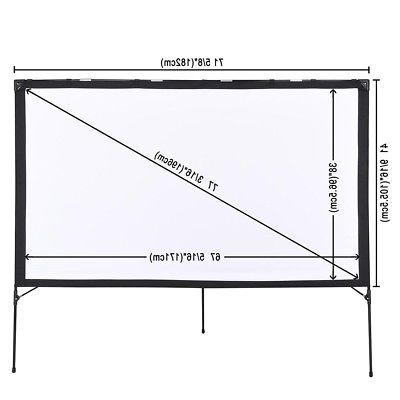 Instahibit® Projector Screen Foldable Stand Outdoor