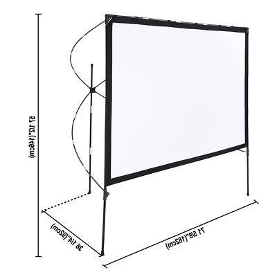 Instahibit® Projector Screen Foldable Stand