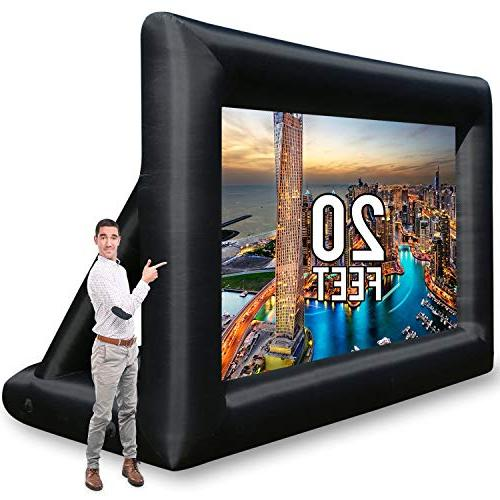 Jumbo 20 Feet Inflatable Outdoor and Indoor Theater Projecto