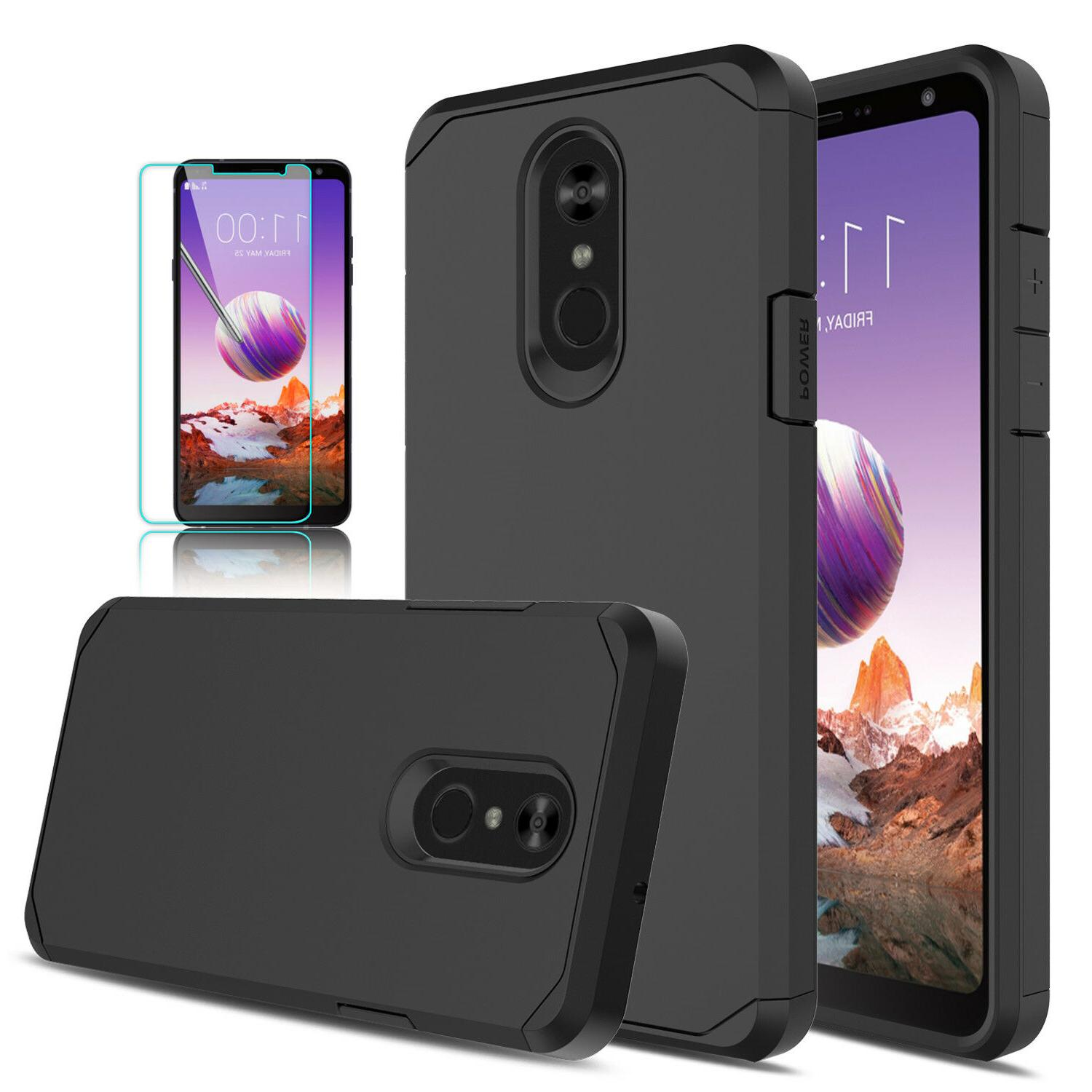 For LG Stylo 4/4+ Cover/Tempered Screen