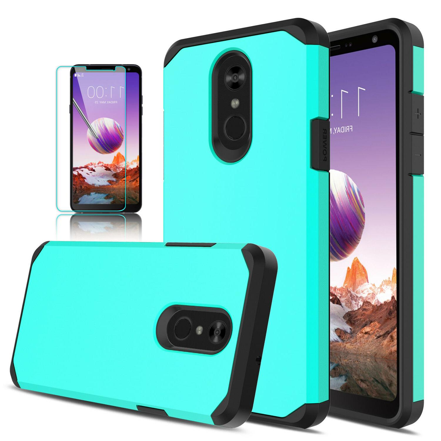 For LG 5/Stylo 4/4+ Cover/Tempered Glass