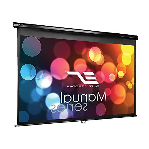 Elite Screens 120-INCH 16:9, Manual Projector Screen AUTO Movie Theater 8K / 4K Ultra 2-YEAR