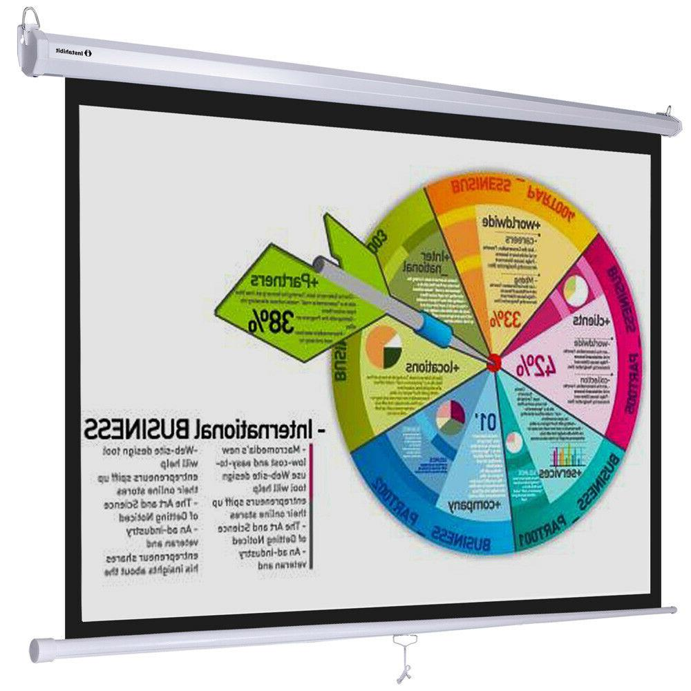 manual projector screen retractable ceiling mounted 72