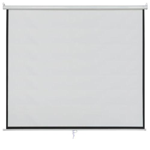 """Matte White 100"""" Projection Screen Home Movie"""