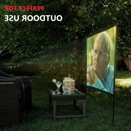 Modern Outdoor Projector Screen with 80 Inches