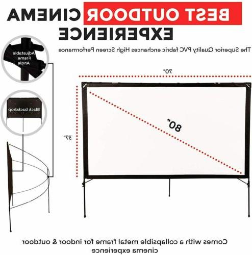 Modern Outdoor Video Projector Screen with 80