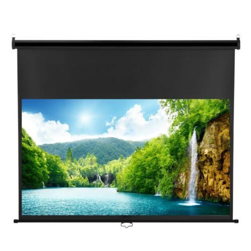 100'' 16:9 Manual Pull Down Projection Projector Screen HD H