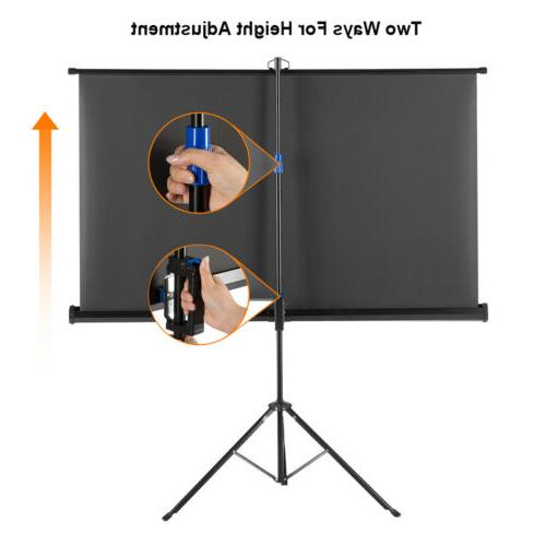 Portable HD 1080P 16:9 Pull-up Projection Tripod