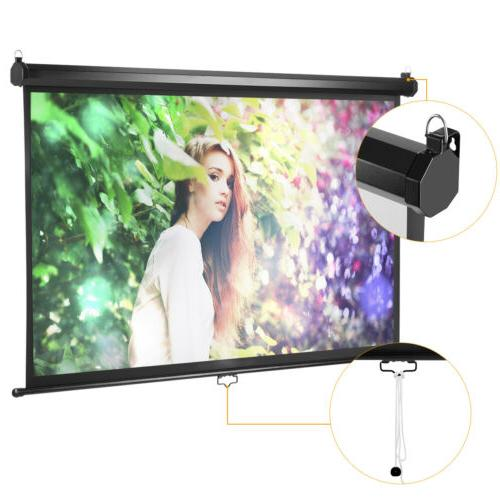 "100"" Inch 16:9 Manual Pull Down Projector Screen UK"
