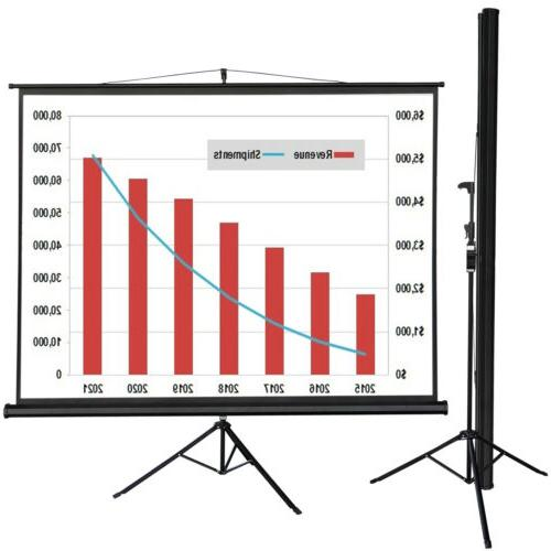 Tripod 100 Inch 4:3 HD Projector Adjustable Projection Scree