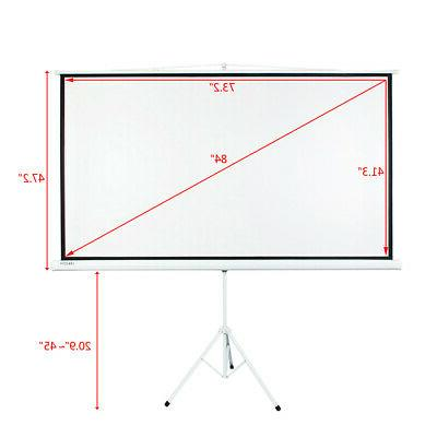 Portable Projector HD Projection Pull-up Matte White