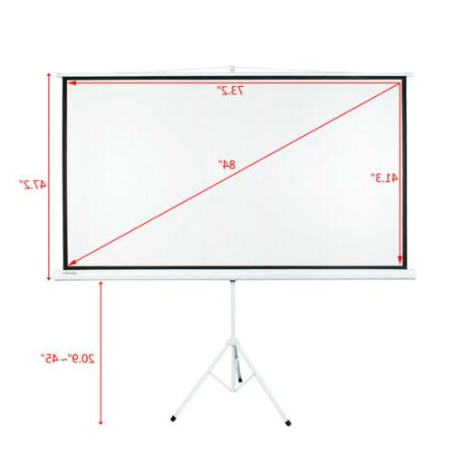"""Portable 100"""" Projector Projection Screen Pull-up"""