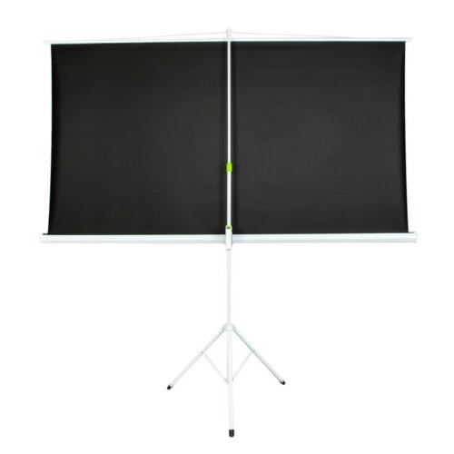 """Portable 84"""" Projection Projector Pull Up with"""