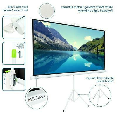 Portable Projector Screen Tripod Stand Projection
