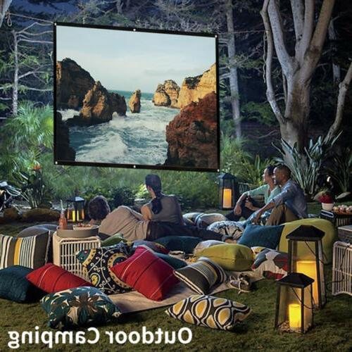 16:9 Portable Foldable Projector Screen HD Home Theater Outd