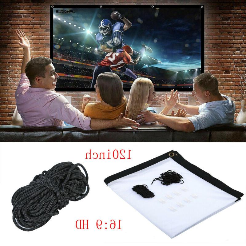 portable foldable projector screen 16 9 hd