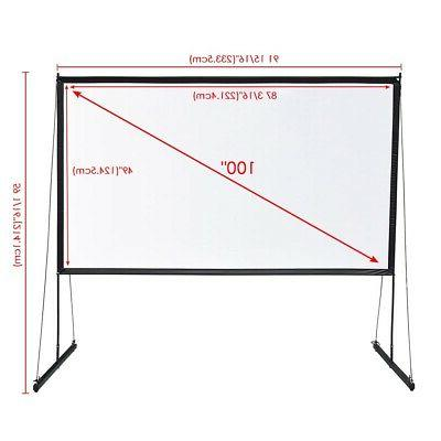 Portable Screen w/ 16:9 Home Theater Outdoor Movies