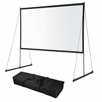 portable foldable projector screen w stand 16