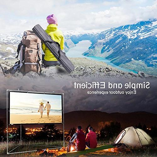 """Pyle 100"""" Portable Matt Theater Projector Stand 16:9, Full HD for / Cinema / Showing Home - PRJTPOTS101"""