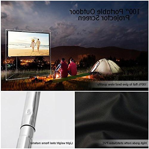 Pyle Outdoor Matt Projector Stand - 16:9, Full HD for / / Video / Home