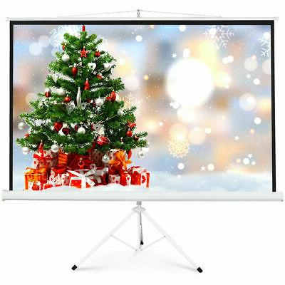 """New 100"""" Tripod Projection Screen 16:9 Square Projector St"""