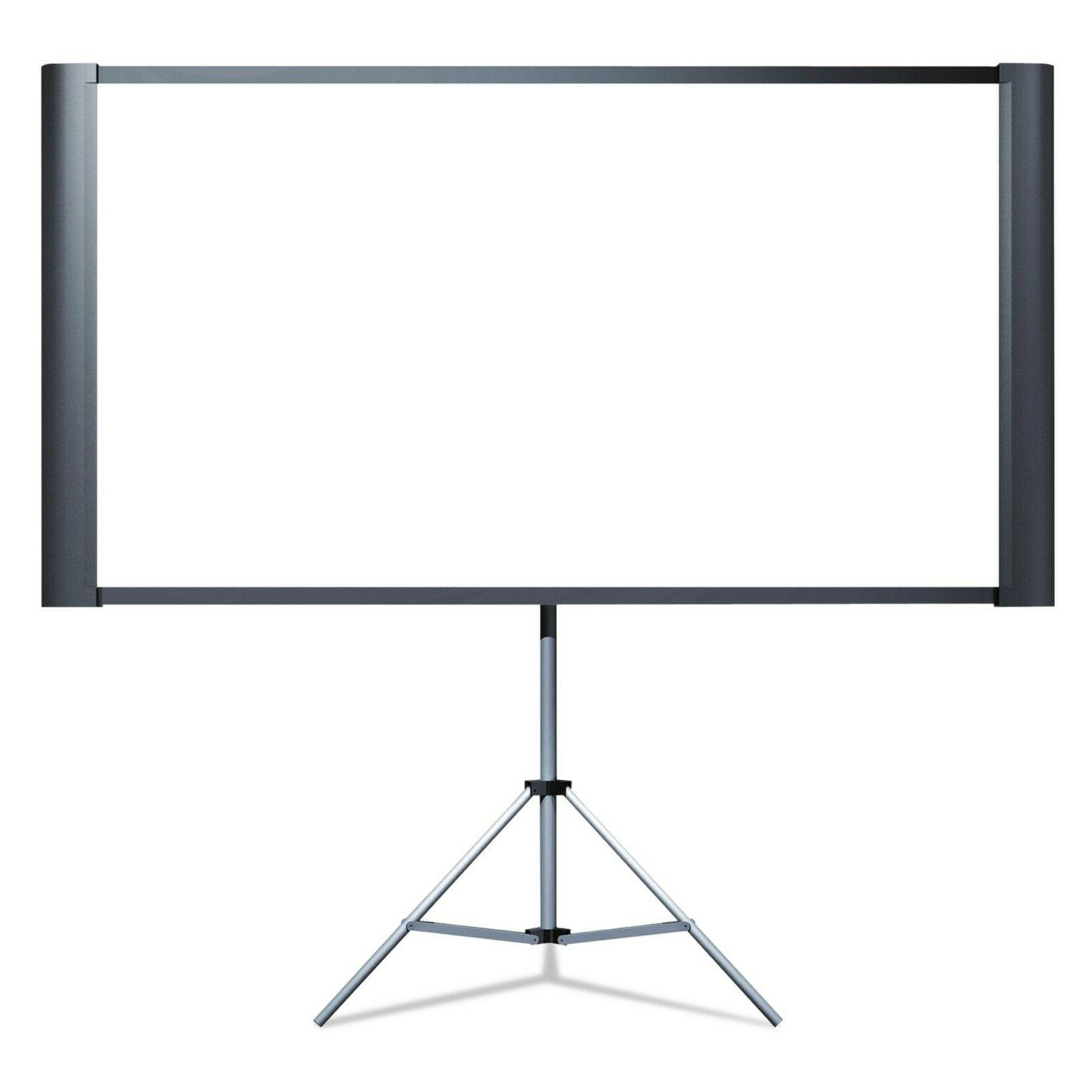 portable projector screen with tripod stand wall