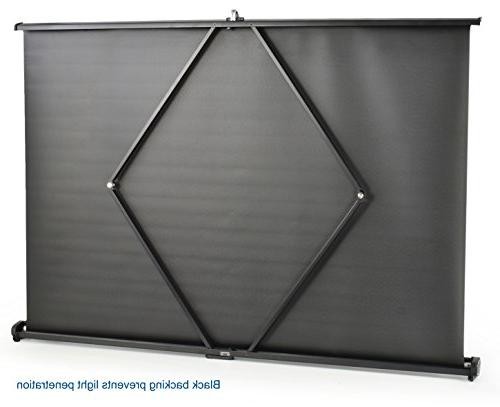 "VIVO 50"" Projector Screen - Mobile Projection Up"