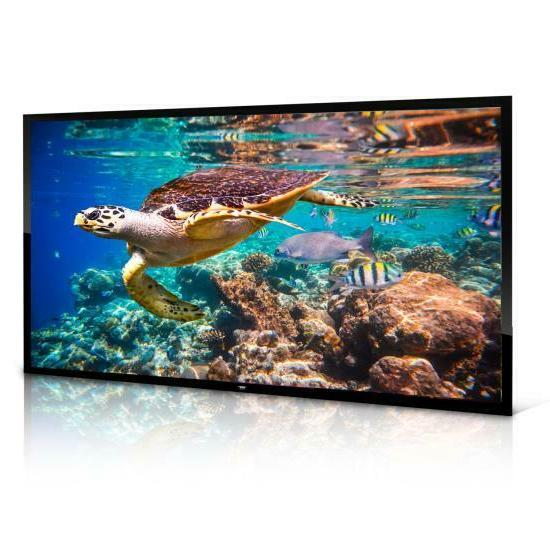 "New PRJTPFL122 Theater Flat Projection Screen 120"" Inch"