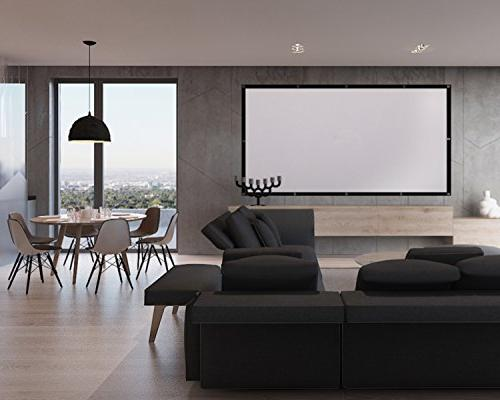 Owlenz 100 inch Screen Foldable Anti-Crease Projector Screen Home Outdoor Indoor Double Sided Projection, Only