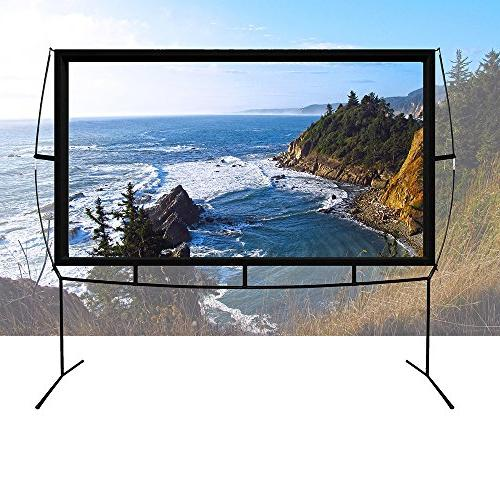 Portable Projector with Stand, Movie Screen 16:9