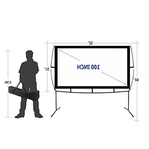 Portable Screen Stand, Indoor Movie 16:9 with