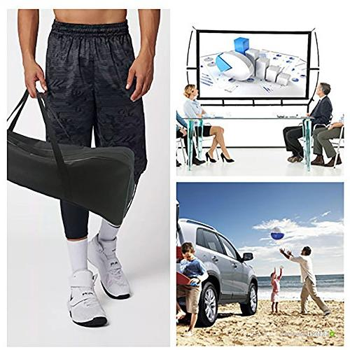 Portable with Stand, Movie Screen 16:9 with Wrinkle-Free
