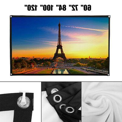 60-100'' Portable Foldable Projector Screen 16:9 HD Home The