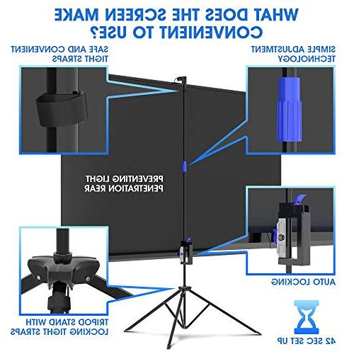 Projector 100 and for Movie or Presentation - 16:9 Premium Wrinkle-Free for Projector Bag and Tight