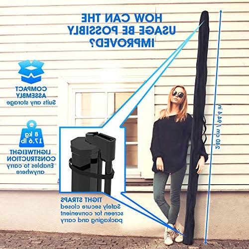 Projector Screen Stand 100 inch and Presentation Premium Wrinkle-Free Bag