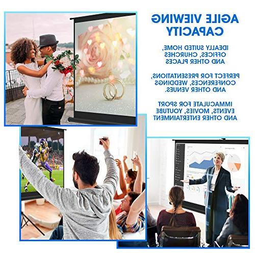 Projector with and Screen for Office Presentation Premium Tripod Screen for Projector with Bag and Straps