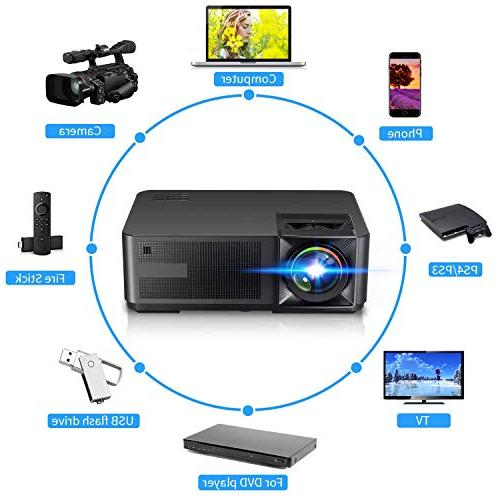 Projector , Lux LED Home Projector HDMI, USB, for Movie Party Game