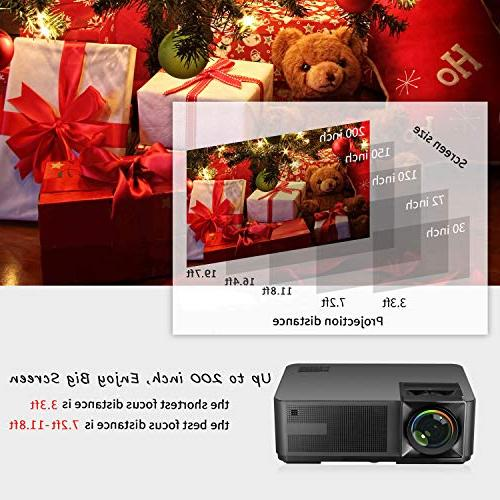 Lux LED Full HD 1080P Supported Home Projector Fire TV Stick, HDMI, for Movie Party and Game