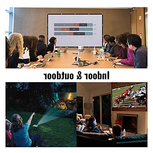 Yome 120 Projector Screen, Indoor Outdoor Movie Sided Projection for Office Party, 4K, 3D,