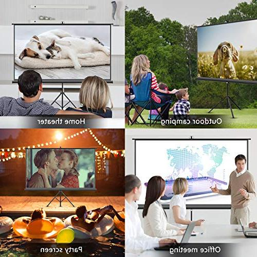 Projector Stand inch HD Screen with Foldable Outdoor Indoor,160° Viewing Angle