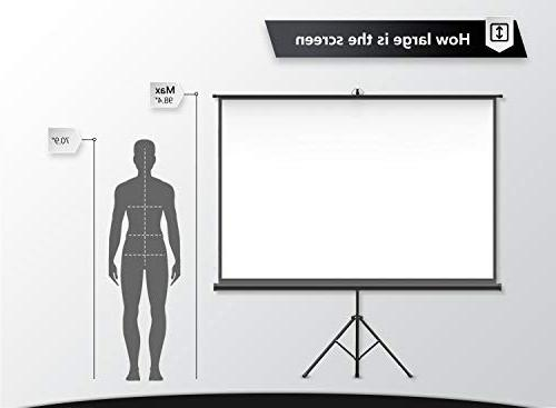 Projector with Stand inch Screen Foldable for Viewing