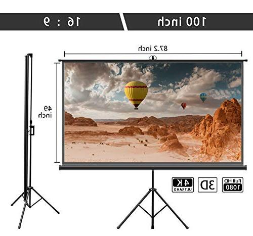 Projector Stand – inch 16:9 Projection Screen with Foldable Outdoor Viewing