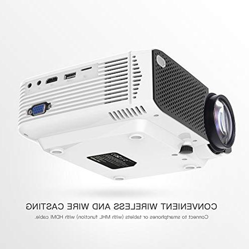 Projector APEMAN Portable with 45000 Hours LED Support HD Box/PS4/Smartphone Theater Entertainment
