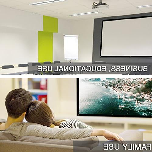 Rolled Portable Diagonal 16:9 for Outdoor Indoor 4K Full Projection