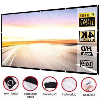 16:9 Projection Screen Projector Home Movie Matte 3D Home Ci